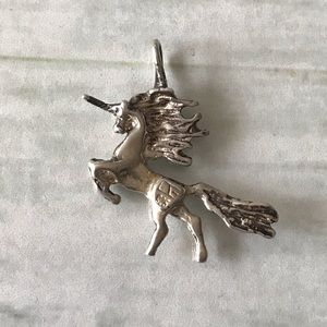 Unicorn with mane Necklace Pendant